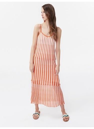 Twist Elbise Oranj